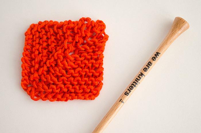 comment tricoter des carrés à onglets